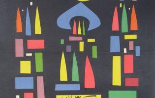 """Plakat reklamujący przedstawienie """"Szopka krakowska"""", 1957 (ANK, Teatr Rapsodyczny wKrakowie, sygn. TRK 56a)"""