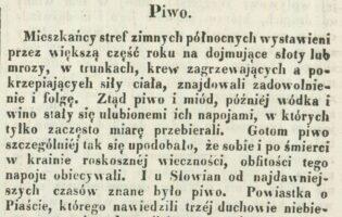Informacje na temat produkcji i spożycia piwa na ziemiach polskich