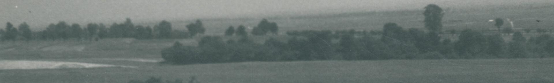 Planowany pod budowę Nowej Huty teren. Widok na Suchy Jar na północ od wsi Pleszów, 7 IX 1950, aut. fot.: Włochowicz CZPH (ANK, Huta im. Lenina, sygn. 29/777/fot. 5411)