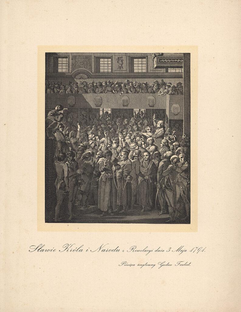 Zaprzysiężenie Konstytucji 3 Maja, reprodukcja pracy Walerego Eliasza- Radzikowskiego,