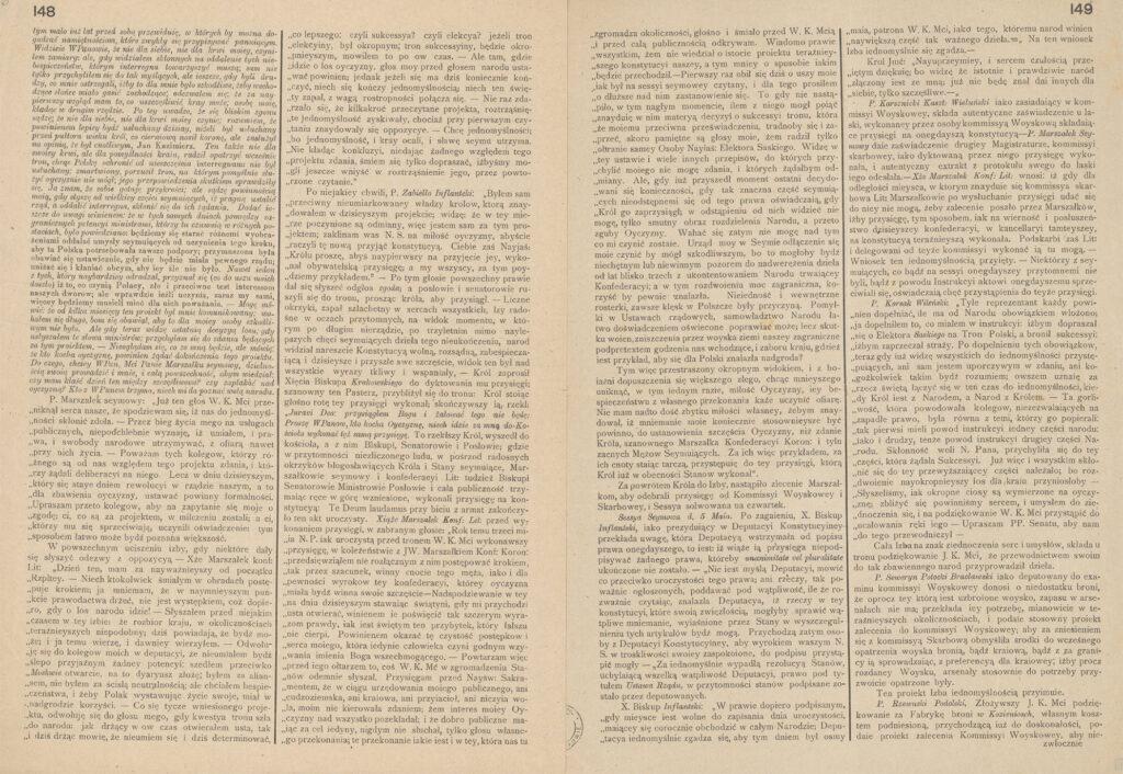 61.Na pamiątkę wiekopomnej uchwały Konstytucji 3go Maja – Gazeta Narodowa y obca NrXXXVII zdn.7 maja 1791 (reprint) wydany przezAl.Heflicha, nakładem Ligi Kobiet wmaju 1916 wWarszawie Archiwum Narodowe wKrakowie, Zbiór Wincentego Łepkowskiego, sygn. 29/682/0/3.5/335, s. 148-149